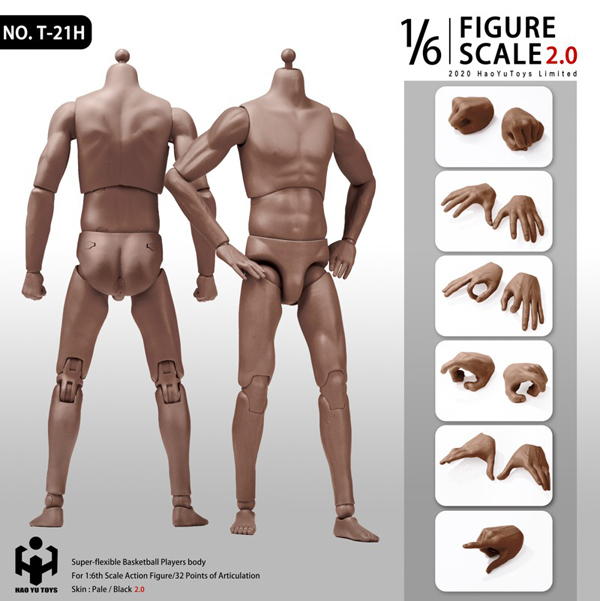 【HAOYUTOYS】T-20H T-20R T-21H T-21R 2.0 Super Sportsman's Body 1/6スケール 男性ボディ素体