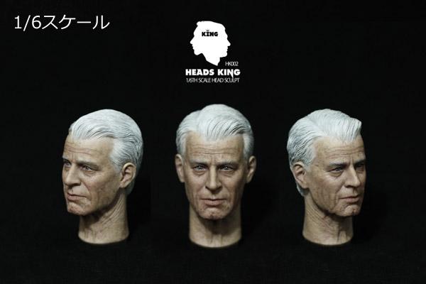 【Heads King】HK002 Man Headsculpt 1/6スケール 男性ヘッド