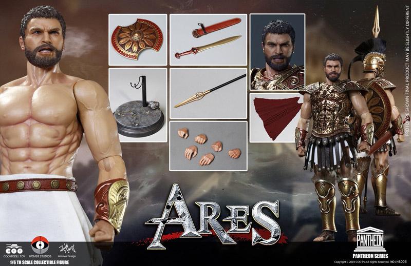 【COOMODEL X HOMER】HS003 1/6 PANTHEON SERIES - ARES / GOD OF WAR パンテオン アレス 神々の戦い 1/6スケール男性フィギュア