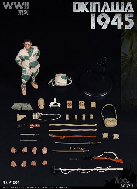 【IQO MODEL】91004 1/6 WW2 1945 Battle of Okinawa 大日本帝国陸軍 義烈空挺隊 沖縄戦 1/6スケール男性フィギュア
