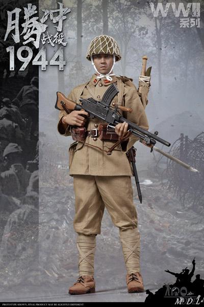 【IQO MODEL】91001 1/6 WW2 1944 大日本帝国陸軍 九六式軽機関銃 機関銃手 テンチョンの戦い