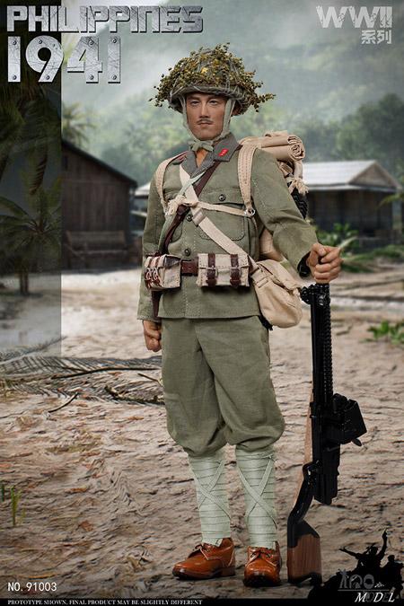 【IQO MODEL】91003 1/6 WW2 1941 Battle of Philippines 大日本帝国陸軍 フィリピンの戦い 1/6スケール男性フィギュア