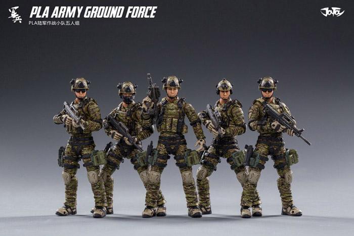 【JOYTOY】JT0111 1/18 PLA ARMY GROUND FORCE 中国 人民解放軍 陸軍 兵士 5体セット 1/18スケールフィギュア