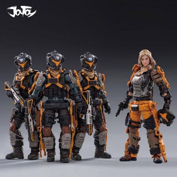 【JOYTOY】JT0197&JT0272 1/18 19st LEGION GHOST SQUAD 第19軍団 レギオン ゴースト スクワッド + 女性隊員 Anna 4体セット
