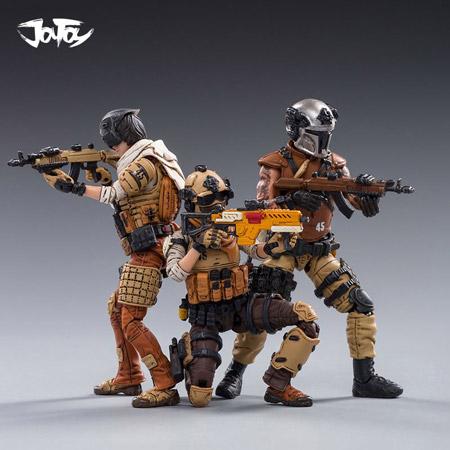 【JOYTOY】JT0371 1/18 WAR STARS 45st LEGION Wasteland hunter ウォースターズ 自由真理連盟 第45軍団 小隊 3体セット
