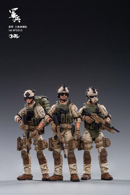 【JOYTOY】JT0432 1/18 U.S.ARMY Delta Force アメリカ陸軍 デルタフォース 3体セット 1/18スケールフィギュア