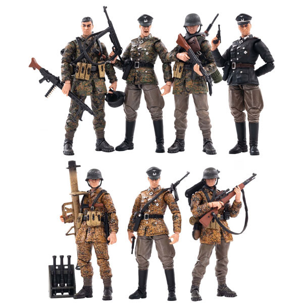 【JOYTOY】JT0548 JT0555 JT0562 1/18 WW2 Mountain Division (Wehrmacht) 第二次世界大戦 ドイツ国防軍 兵士 7体セット