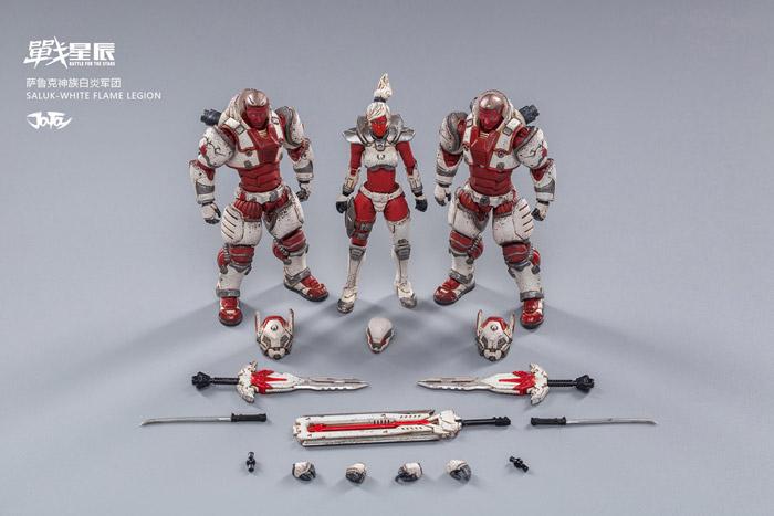 【JOYTOY】JT0739 1/18 Saluk-White flame Legion 3体セット 1/18スケールフィギュア