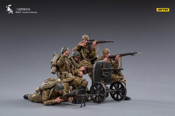 【JOYTOY】JT0838 1/18 WW2 Soviet Infantry 第二次世界大戦 ソビエト連邦軍 兵士 5体セット 1/18スケールフィギュア