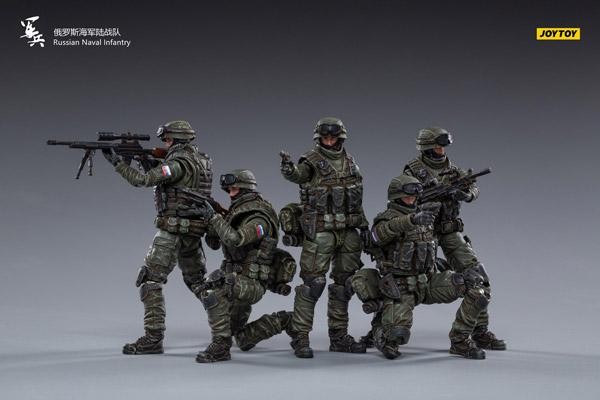 【JOYTOY】JT0852 1/18 Russian Naval Infantry ロシア海軍歩兵 兵士 5体セット 1/18スケールフィギュア