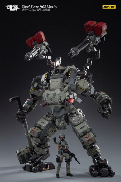 【JOYTOY】JT1064 1/25 暗源 Steel Bone H02 Firepower Mecha (Gray-green)