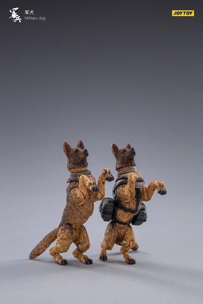 【JOYTOY】JT0033 1/18 Military Dog ミリタリードッグ 軍用犬 2体セット 1/18スケールフィギュア