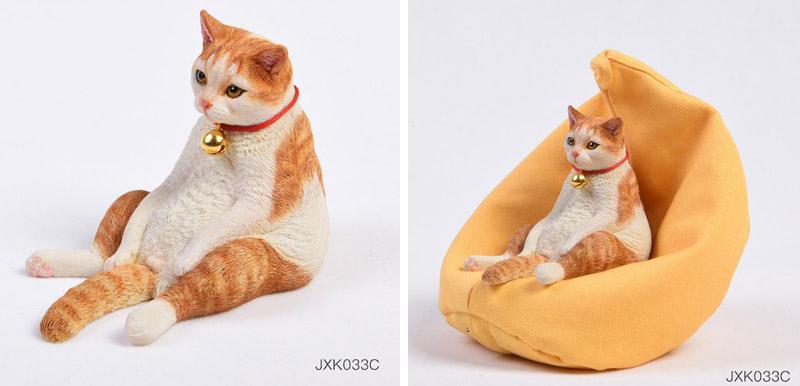【JxK.Studio】JXK033ABCD ネコ&クッションソファー 1/6スケール 猫 ネコ 家猫 イエネコ