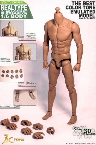 【JXtoys】JXS03 Muscle type Body High quality version 1/6スケール 男性ボディ素体