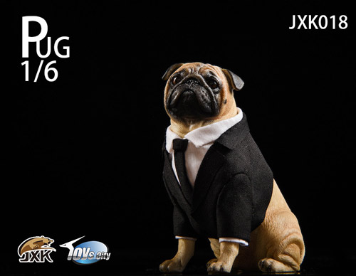 【JxK.Studio】JXK018 1/6 Pug in Black FRANK パグ・イン・ブラック フランク 1/6スケール 犬 イヌ パグ