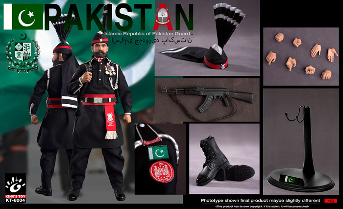 【King's Toy】KT-8004 Pakistan guard パキスタン軍 儀仗兵 1/6スケールフィギュア