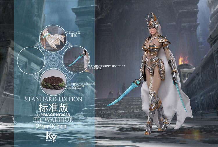 【KYStudio】KY002-B 1/6 Standard Edition Elf Female Soldier BurRhea エルフ ソルジャー 精霊女戦士 バーレア 通常版
