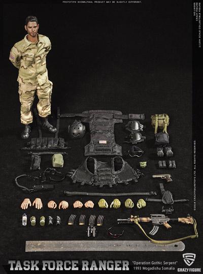 【crazyfigure】LW005 1/12 US Delta Special Force- master sergeant - Rangers Task Force 1993