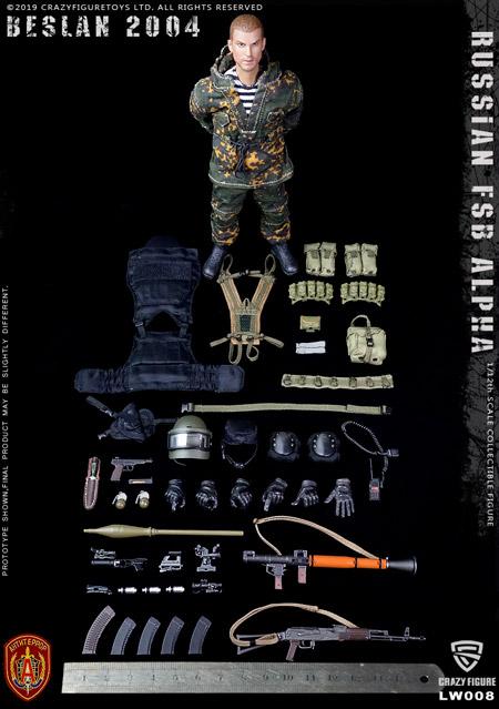 【crazyfigure】LW008 1/12 Russian Alpha Special Forces Grenadier スペツナズ ロシア連邦保安庁特殊任務部隊