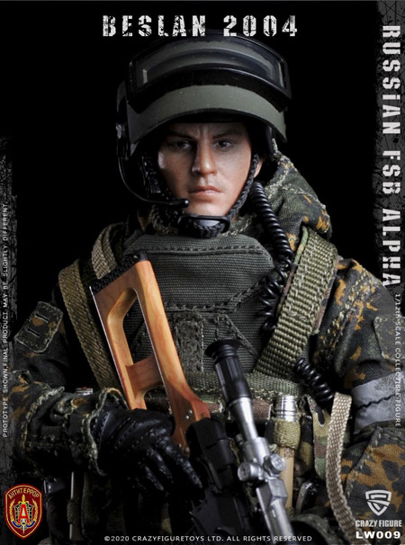 【crazyfigure】LW009 1/12 Russian alpha special forces sniper
