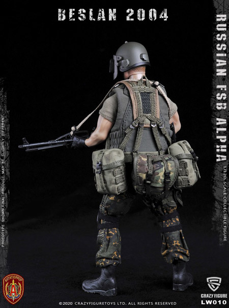 【crazyfigure】LW010 1/12 Russian alpha special forces machine gunne