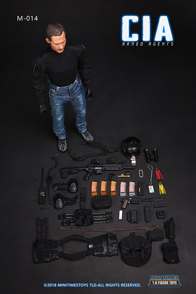 MiniTimesToys】MT-M014F 1/6 CIA Armed Agents set (With Head and ...