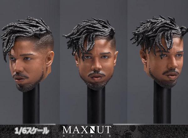 【MAXNUT STUDIO】KM001 Headsculpt Normal Edition 黒人男性 1/6スケール 男性ヘッド
