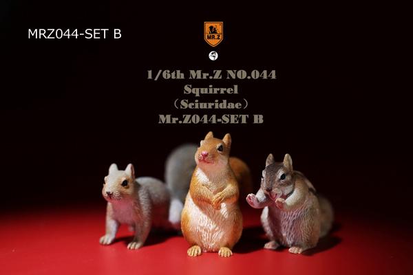 【MR.Z】MRZ044 1/6 Squirrel (Sciuridae) 1/6スケール リス りす 3体セット