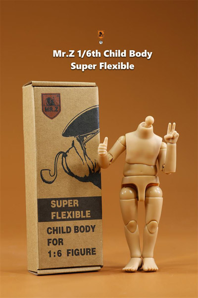 【MR.Z】CBSF-01 1/6 Child Body Super Flexible 汎用 子供素体 1/6スケール 少年 男性ボディ素体