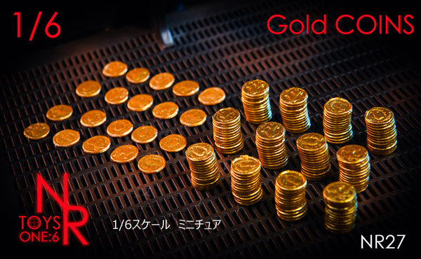 【NRTOYS】NR27 1/6 Gold Coin Accessory 1/6スケール 金貨セット