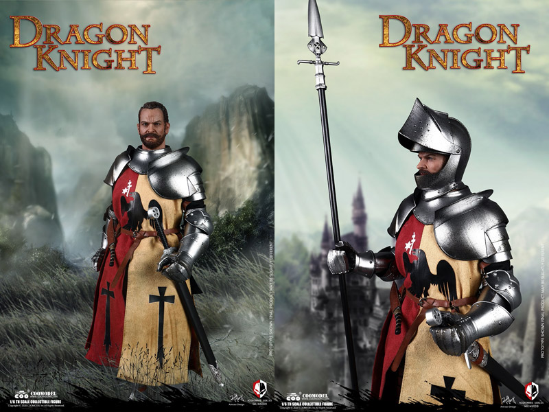 【COO】NS009 1/6 NIGHTMARE SEIRES (DIECAST ALLOY)  - DRAGON KNIGHT ドラゴン・ナイト 龍騎士 1/6スケールフィギュア