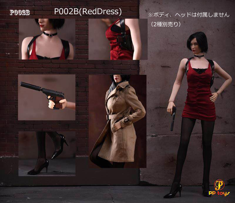 【PPtoys】P002A P002B 1:6 Female Agent Suit 女性エージェント 1/6スケール 女性ドール用コスチューム