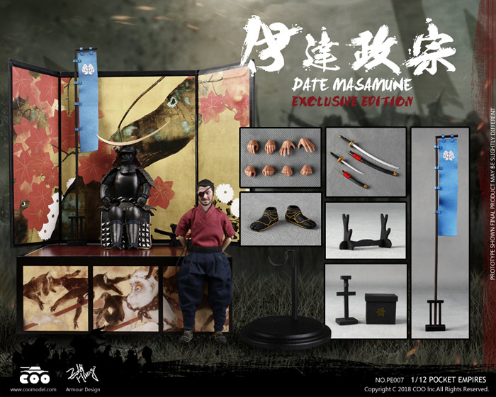 【COO】PE007 1/12 PALM EMPIRES - DATE MASAMUNE (EXCLUSIVE EDITION) 独眼竜 伊達政宗 DX版 1/12スケールフィギュア