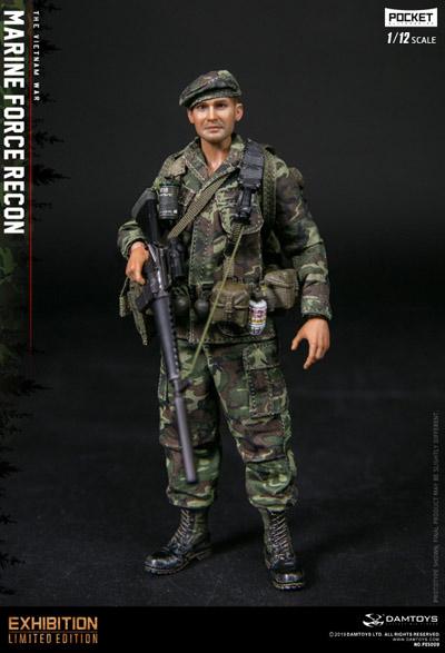 【DAM】PES009 1/12 ベトナム戦争 アメリカ海兵隊武装偵察部隊 フォース・リーコン 1/12スケールフィギュア