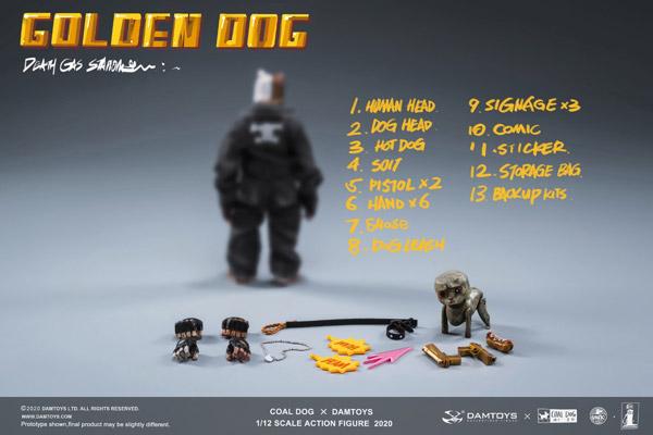 【DAM】DAMTOYS x COALDOG PES022 1/12 GOLDEN DOG - Death Gas Station series