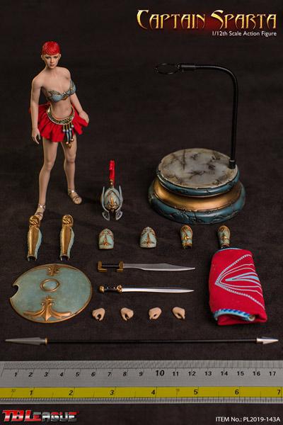 【TBLeague】TBリーグ 1/12 PL2019-143A Captain Sparta キャプテン・スパルタ  1/12スケール シームレス女性ボディフィギュア