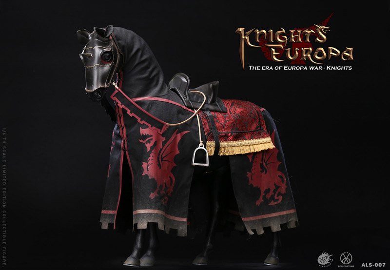【POPtoys】ALS007 1/6 Armor Legend Series-The Era of Europa War Black armor horse ブラックアーマーホース 騎馬 軍馬 黒馬
