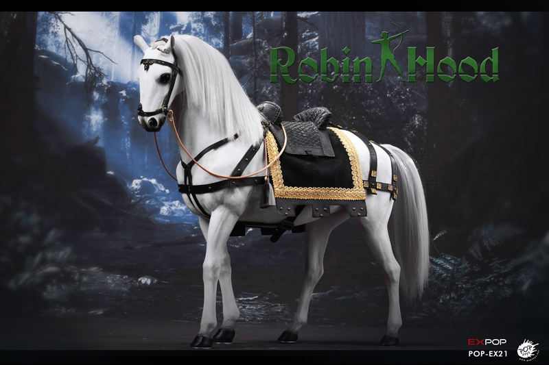 【POPtoys】EX021B 1/6 War horse ウォーホース 軍馬 白馬 1/6スケール馬フィギュア
