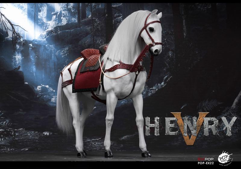 【POPtoys】EX022B 1/6 War horse ウォーホース 軍馬 白馬 1/6スケール馬フィギュア