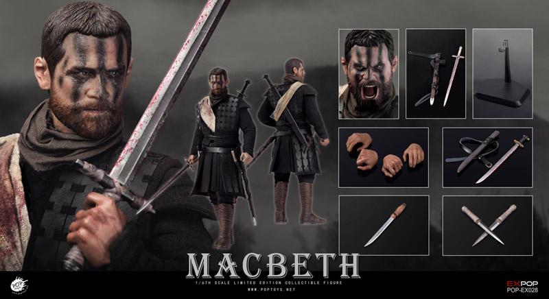 【POPtoys】EX028 Macbeth with two heads マクベス 1/6スケール男性フィギュア (ヘッド2種付属)