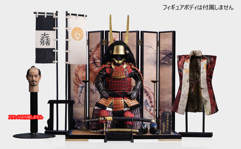 【POPtoys】EX029 石田三成 紅糸素掛威伊予札二枚胴具足 1/6スケール 甲冑&侍ヘッドセット
