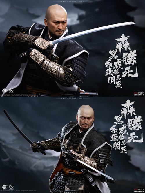 【POPtoys】EX030B 1/6 Benevolent Samurai Deluxe version 武士 侍 森勝元 黒糸威段替胴具足 DX版 1/6スケール男性フィギュア