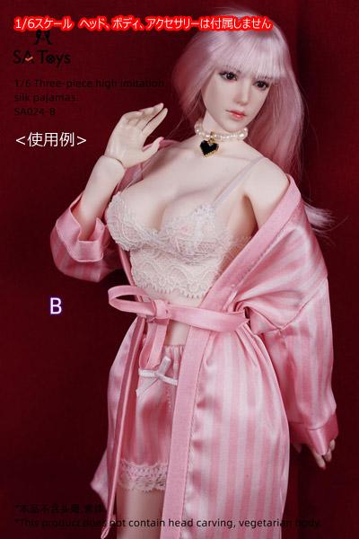 【SA Toys】SA024 ABC 1/6 Lace Pajamas 女性用パジャマ 寝巻 1/6スケール 女性ドール用コスチューム