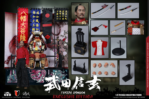 【COO】SE040 1/6 TAKEDA SHINGEN A.K.A. TIGER OF KAI (DELUXE EDITION) 甲斐之虎 武田信玄 DX版 1/6スケールフィギュア