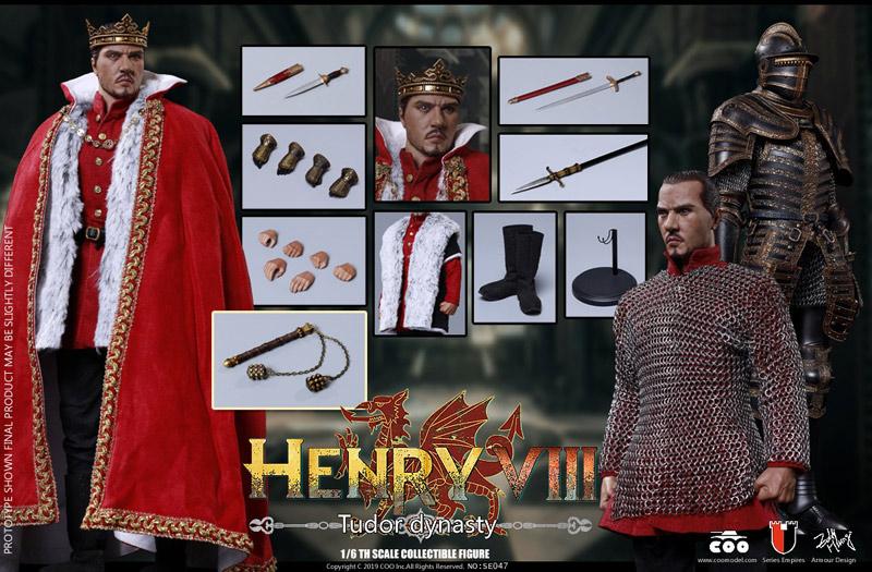 【COO】SE047 1/6 ヘンリー8世 (イングランド王) チューダー王朝版 1/6スケールフィギュア