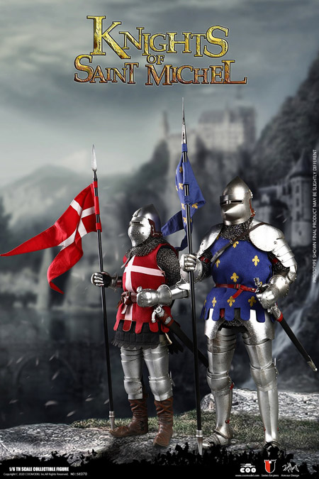 【COO】SE070 1/6 SERIES OF EMPIRES(DIECAST ARMOR) - KNIGHTS OF SAINT MICHEL (DOUBLE-FIGURE SET OF FRENCH KNIGHTS)
