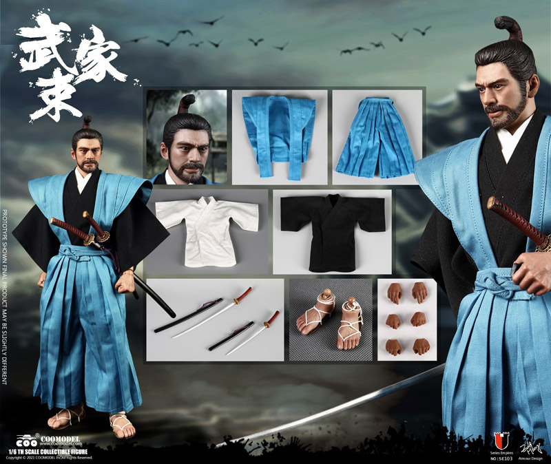 【COO】SE0103 1/6 SERIES OF EMPIRES - SAMURAI (CASUAL VERSION) 武家束 武家装束 侍 武士 便服版 1/6スケールフィギュア