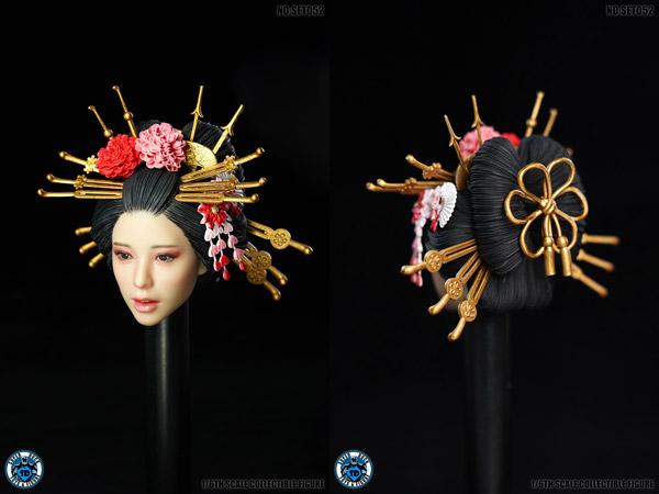 【SUPERDUCK】SET052 花魁 着物 1/6スケール 女性ヘッド&コスチュームセット