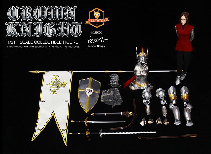 【SGTOYS】EK001 Crown Knight クラウンナイト 女騎士 1/6スケール女性フィギュア