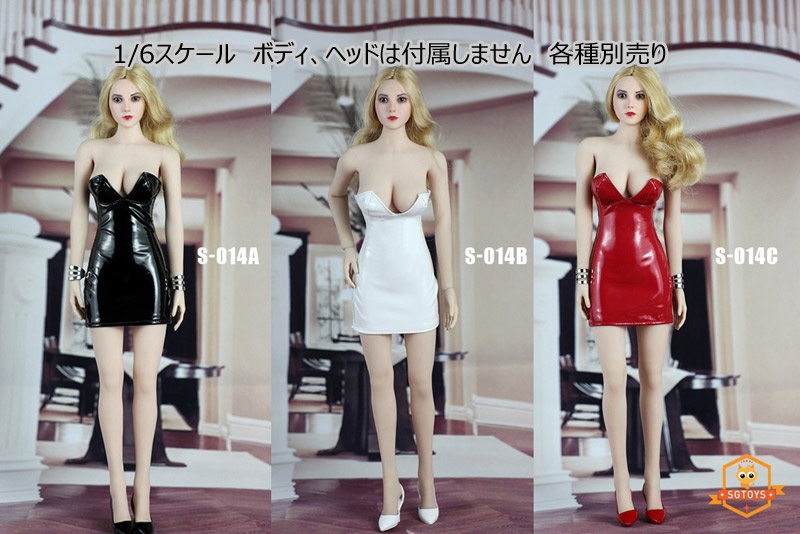 【SGTOYS】S014ABC 1/6 Sexy Lady Paint Skirt Set ミニスカートワンピース ドレス 1/6スケール 女性ドール用コスチューム